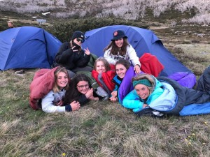 girls camping photo